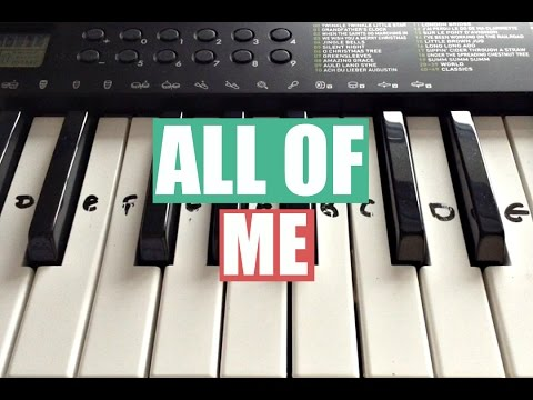 All Of Me - John Legend | Easy Keyboard Tutorial With Notes (Right Hand)