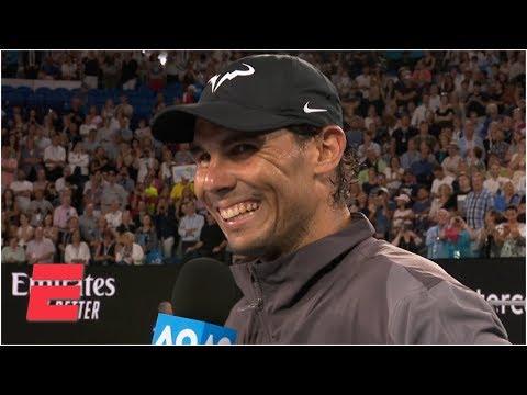 Rafael Nadal happy with improved serve, renewed passion in win vs. Matthew Ebden | Australian Open