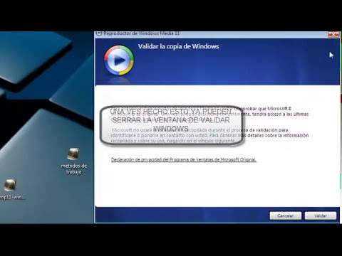 Validar windows media player11