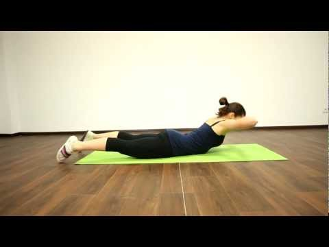 25. Фитнес конструктор 0-0-2-1. Поднятие корпуса лежа на животе.