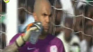 فرصة احمد حسن كوكا الضائعة لـ منتخب مصر امام نيجيريا ومهارة محمد صلاح