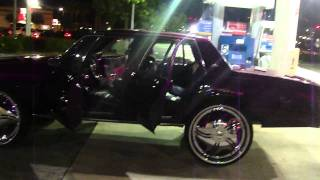 "CANDY PURPLE BOX CHEVY ON 28"" DUB FLOATERS!!! & GOLD BOX CHEVY ON 28"" DUB"