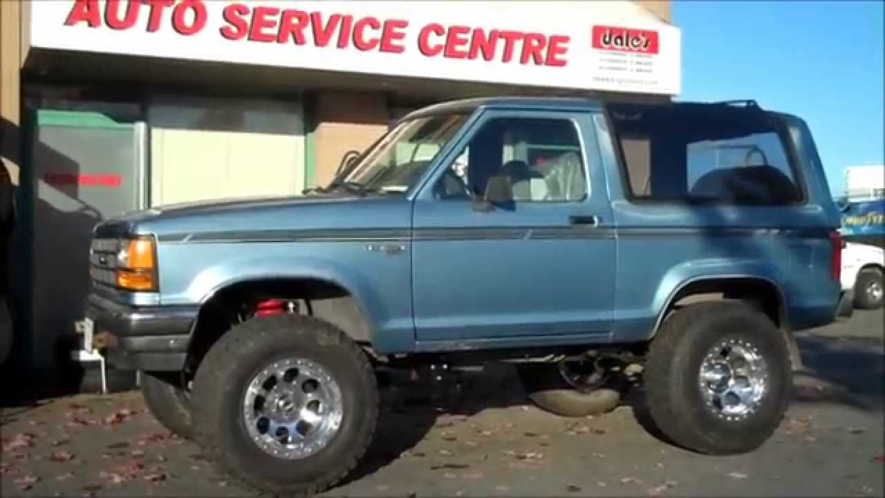 Skyjacker 4 Lift Ford Bronco Ii Youtube
