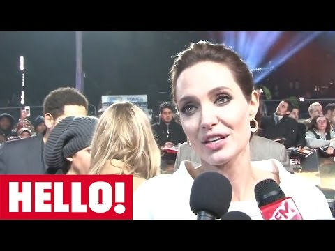 Angelina Jolie and Jack O'Connell talk to HELLO! at the Unbroken premiere