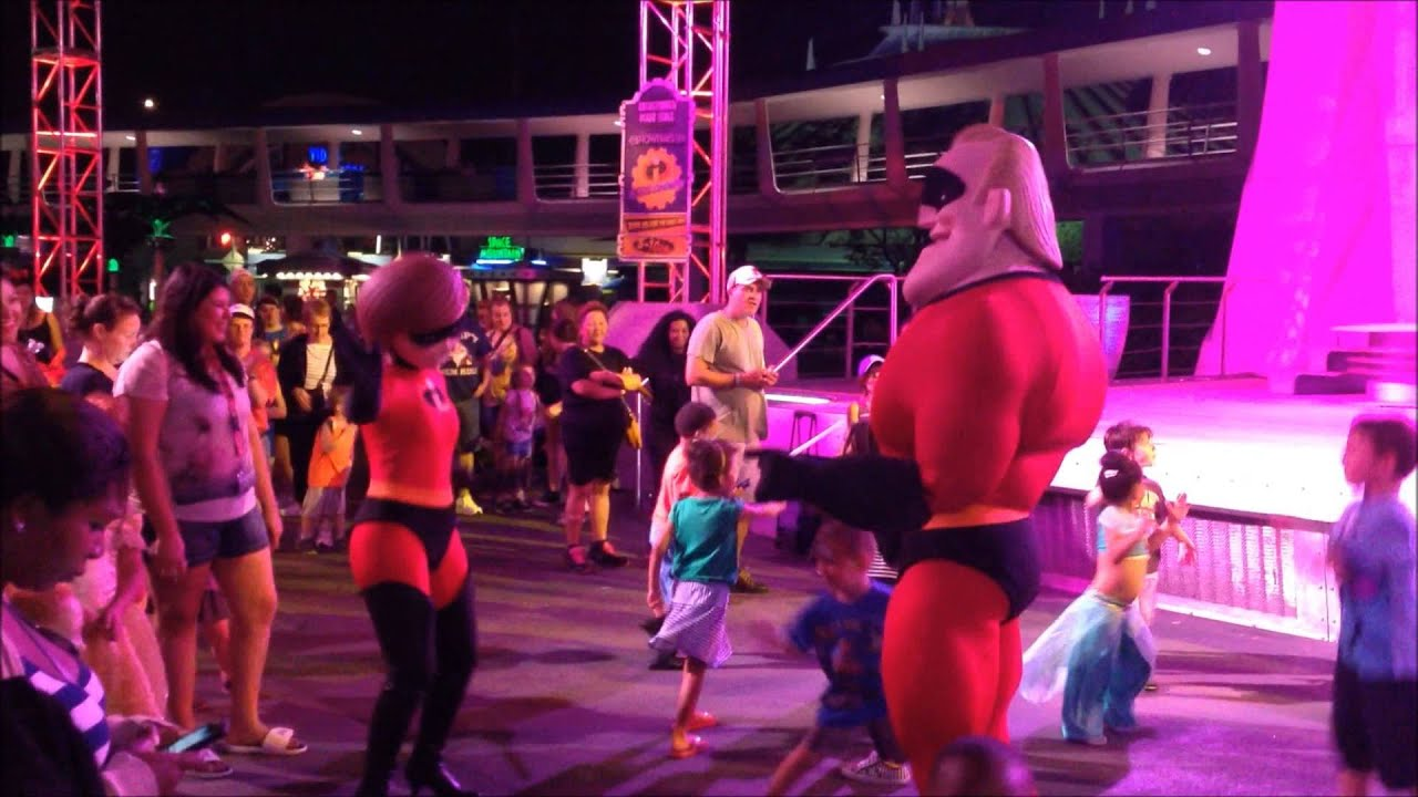 Incredibles super dance party at the magic kingdom youtube for 1234 dance floor