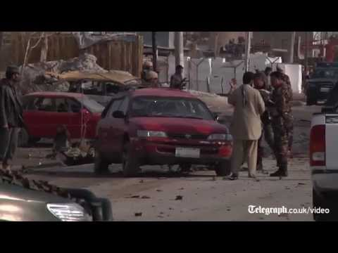 Watch: aftermath of Afghanistan suicide attack on British embassy car in Kabul