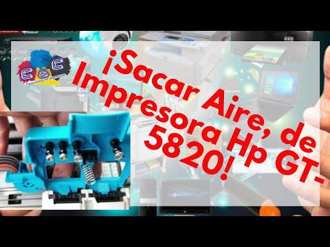 Como Purgar, Sacar Aire, de Impresora Hp GT-5820 y 5810 dos métodos
