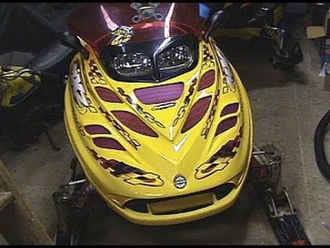 how to connect heated visor to a 2 stroke sled