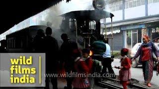 Ghoom toy train station in Darjeeling