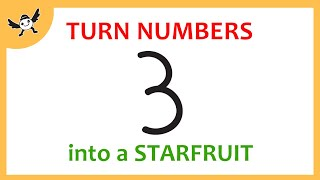How To Turn Number into Cartoon Starfruit – Learn Drawing for Creative Kids ✔