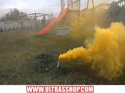 Yellow Smoke Bombs Hand Yellow Smoke Bomb.avi