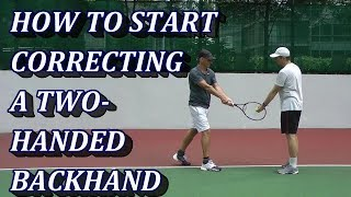 Correcting A Two-Handed Backhand Tennis Stroke - What's The Mental Image