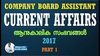Current Affairs-2017-Kerala PSC
