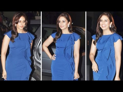 Huma Qureshi Goes Blue at Filmfare Awards 2014