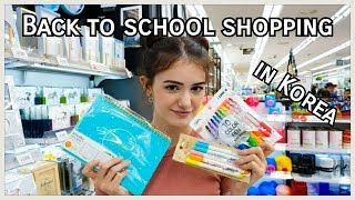 BACK TO SCHOOL SHOPPING IN KOREA (VLOG)/ [International Couple/국제커플]  학교 쇼핑 브이로그