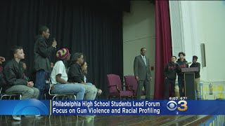 Philly Students Lead Forum On Gun Violence, Racial Profiling