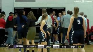 Sad and embarrassing images, a fight during the UNLV vs Utah State of the NCAA Women