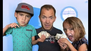 IF KIDS WERE IN CHARGE!  dad can't say NO for 24 HOURS!