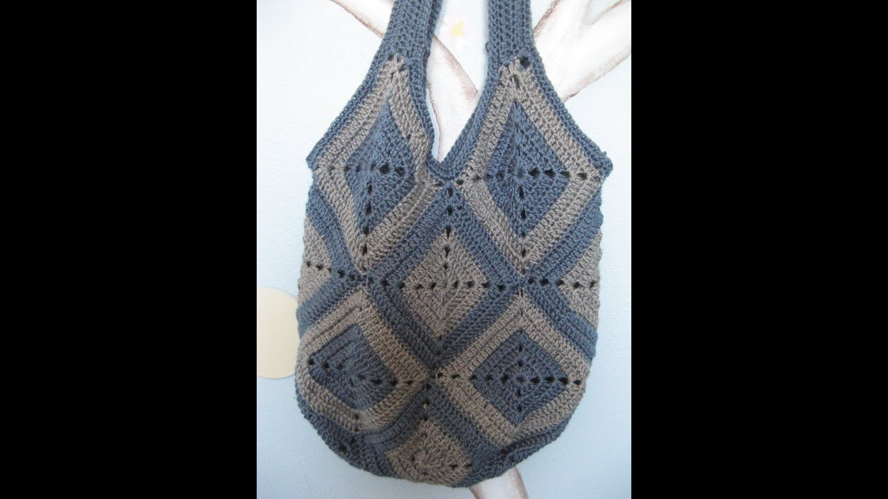Ingas crochet bag - YouTube
