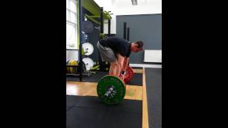 EDGE Coach Lee Rickards cleans 90kg