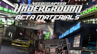 Need For Speed Underground - Beta materials