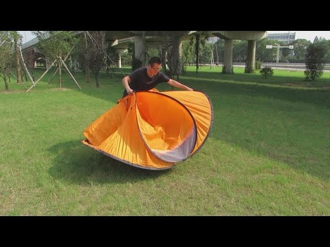 Folding Instruction Video for a 2 Person Pop Up Tent/ 2 Seconds Tent