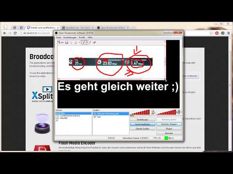 Tutorial: Streamen auf twitch.tv mit Open Broadcaster Software (Kostenlose xsplit Alternative)