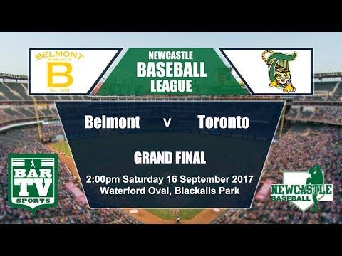 2017 Newcastle Baseball 1st Grade Grand Final - Toronto v Belmont