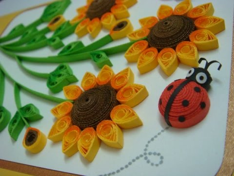 Make Quilling Sunflower Quilled Sunflowers Handmade