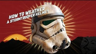 How to Weather a Stormtrooper helmet into a Sandtrooper (Giveaway)