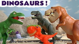Dinosaurs with Thomas and Friends Toy Trains and the funny Funlings TT4U