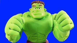 Hulkey Pokey Hulk Sings And Dances ! New Hulk Family Member ! Superhero Toys