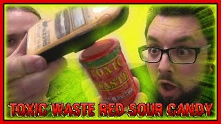 Toxic Waste Red Sour Candy Review