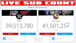 WWE vs SET india live subscribe count : who will prevail ?