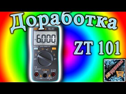 Как сделать измерение температуры на мультиметре ZT 101(RM 101)