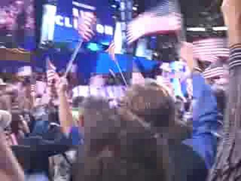 President Clinton: wild crowd, don't stop thinkin bout tomorrow