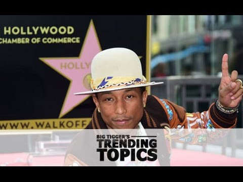Pharrell Williams Takes a Walk of Fame - Trending Topics