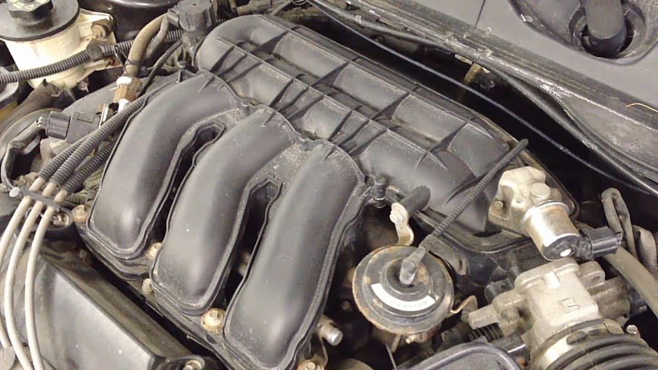 Ford Taurus 30L 24v DOHC Intake Manifold Removal  YouTube