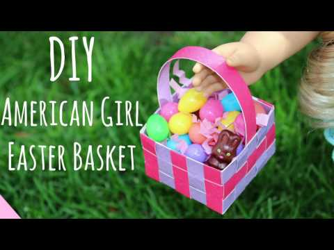DIY American Girl Doll Easter Baskets Craft