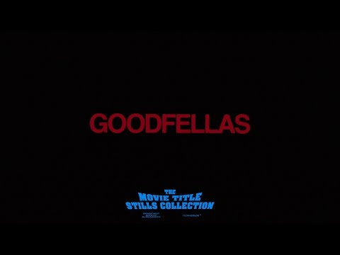 Saul Bass title sequence - Goodfellas (1990)