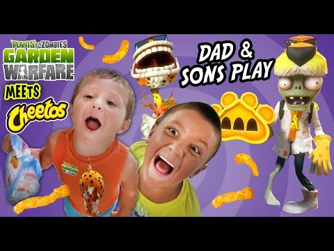 Dad & Sons Play PVZ Garden Warfare: CHEETOS! Chester Chomper & Dr. Chester Face Cam Gameplay