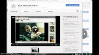 How to get live website editor