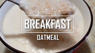 Breakfast Oatmeal 350 calories | Lose weight fast | Quick, Easy and Tasty - 学煮麦皮牛奶