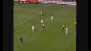 Ajax 1 ~ 3 Celtic: Chris Sutton Header; full build up