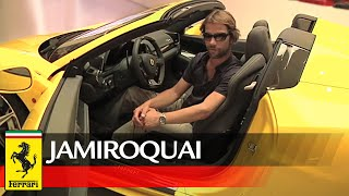 "A special day in Maranello for Jamiroquai's Jason ""Jay"" Kay"