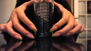 ASMR Long Natural Nails tapping, and scratching metal, glass and other things