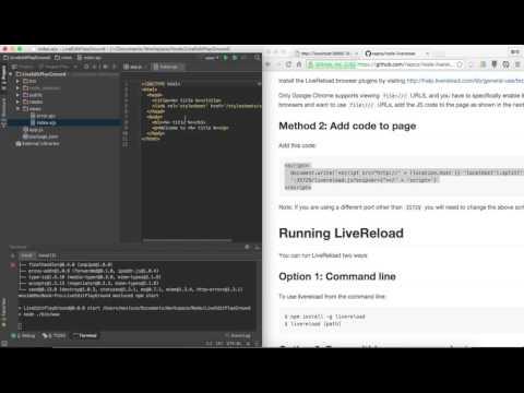 Livereload + ExpressJS Getting Started