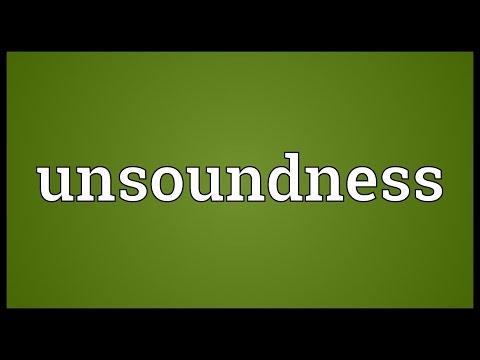 Header of unsoundness