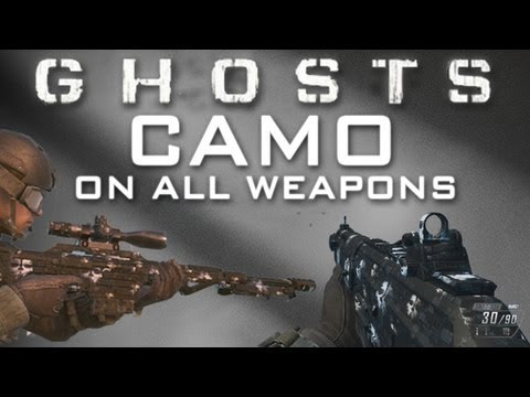 Black Ops 2 GHOSTS Camo on All Weapons - Ghost Camo