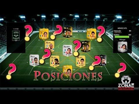 Zona de Entrenamiento - TODAS las posiciones de jugador explicadas Fifa 14 !!